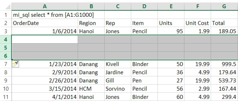 4 - phím tắt chèn dòng trong Excel