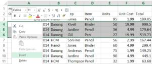 Chèn thêm nhiều dòng trống trong Excel