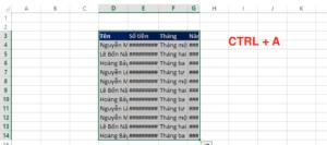 Giãn dòng trong Excel