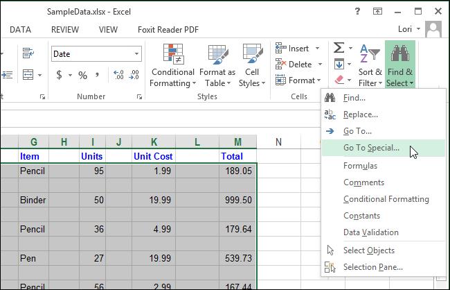 Excel xoá dòng trống xoá cột trống 03