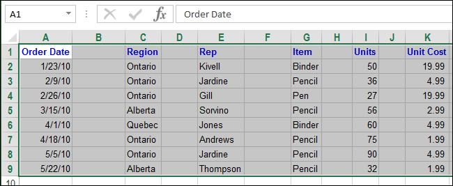 Excel xoá dòng trống xoá cột trống 08