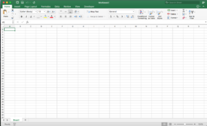 Giao diện Excel trên MacOS