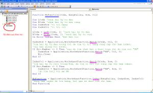Chuyển công thức excel sang hàm VBA