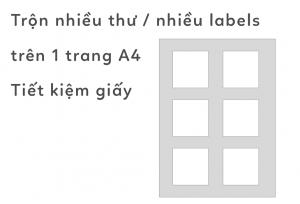 Trộn thư nhiều labels