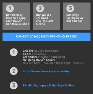 Hướng dẫn CK VBA101