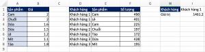 Excel nâng cao, kết hợp hàm SUM và LOOKUP