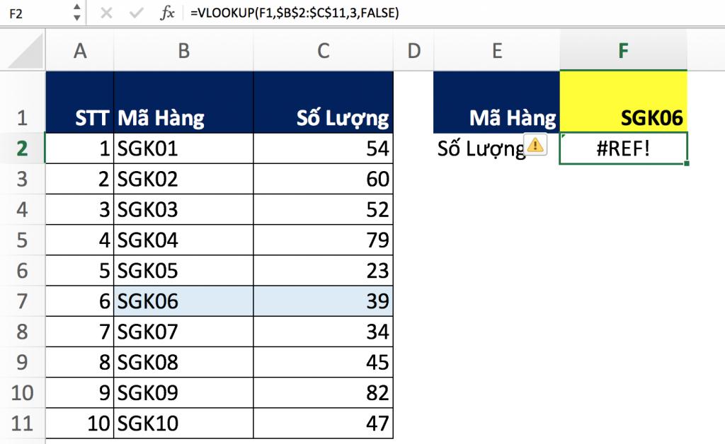 6 - Hàm Match trong Excel qua các ví dụ