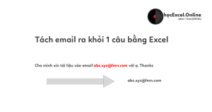 tach email trong excel