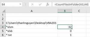 đếm số lượng file trong một thư mục