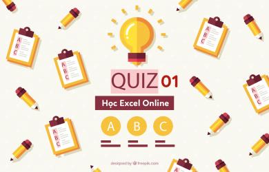 quiz 01 hoc excel online
