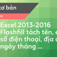 su dung flashfill trong excel