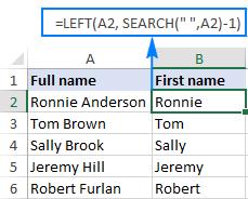 hàm left và các ứng dụng cực hay của hàm left trong phân tách họ tên