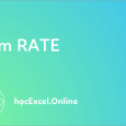 Hàm rate trong excel