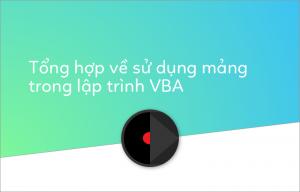 Mảng trong lập trình VBA