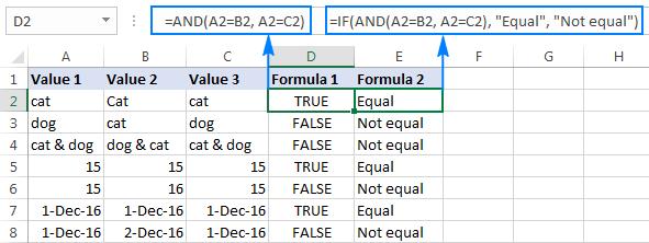 3 - so sánh chuỗi trong excel