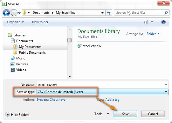 2- Chuyển đổi Excel sang file CSV và xuất định dạng CSV UTF-8