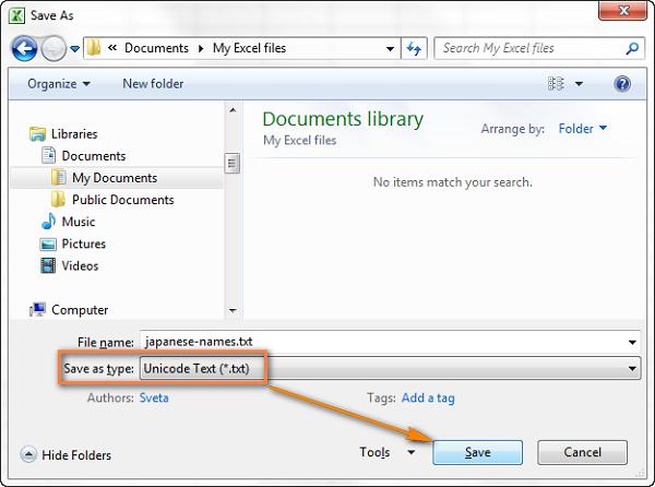 6- Chuyển đổi Excel sang file CSV và xuất định dạng CSV UTF-8
