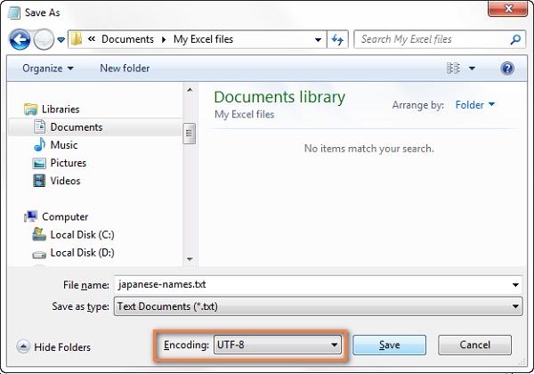 8- Chuyển đổi Excel sang file CSV và xuất định dạng CSV UTF-8