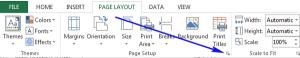 Xóa số trang của Excel