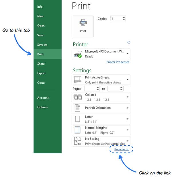 2 - cách in lưới trong Excel