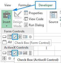 Cách thêm, copy và xóa nhiều checkbox trong Excel