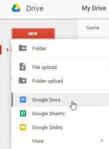 1- Hướng Dẫn Tạo Lập Google Docs