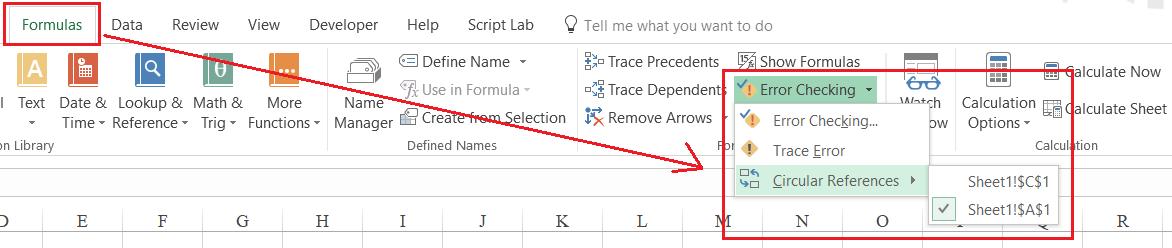 2 - sửa lỗi Circular References Warning trong Excel