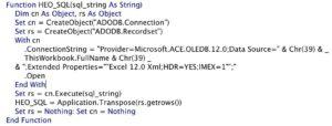 Ví dụ về hàm HEO_SQL