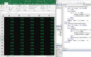 Thay doi calculation mode trong VBA Excel de bang tinh chay nhanh hon