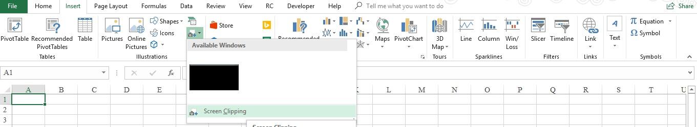 hướng dẫn các bạn chèn màn hình Desktopvàoexcel