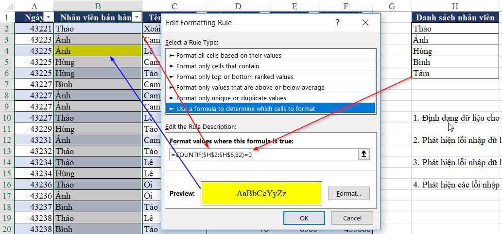 Tìm hiểu kỹ năng phân tích dữ liệu trước khi lập báo cáo trên Excel