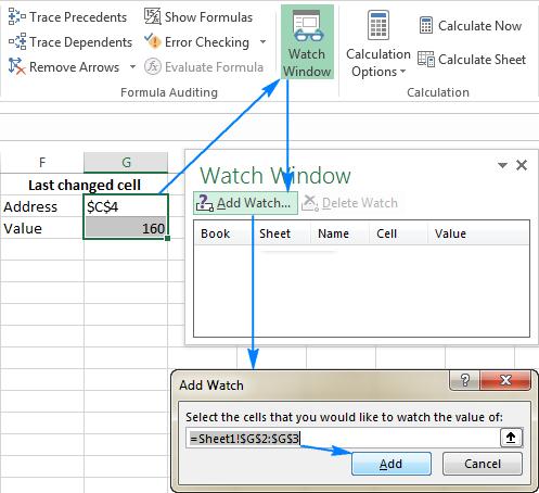 Hướng dẫn tiện ích Watch Window trong Excel để kiểm tra kết