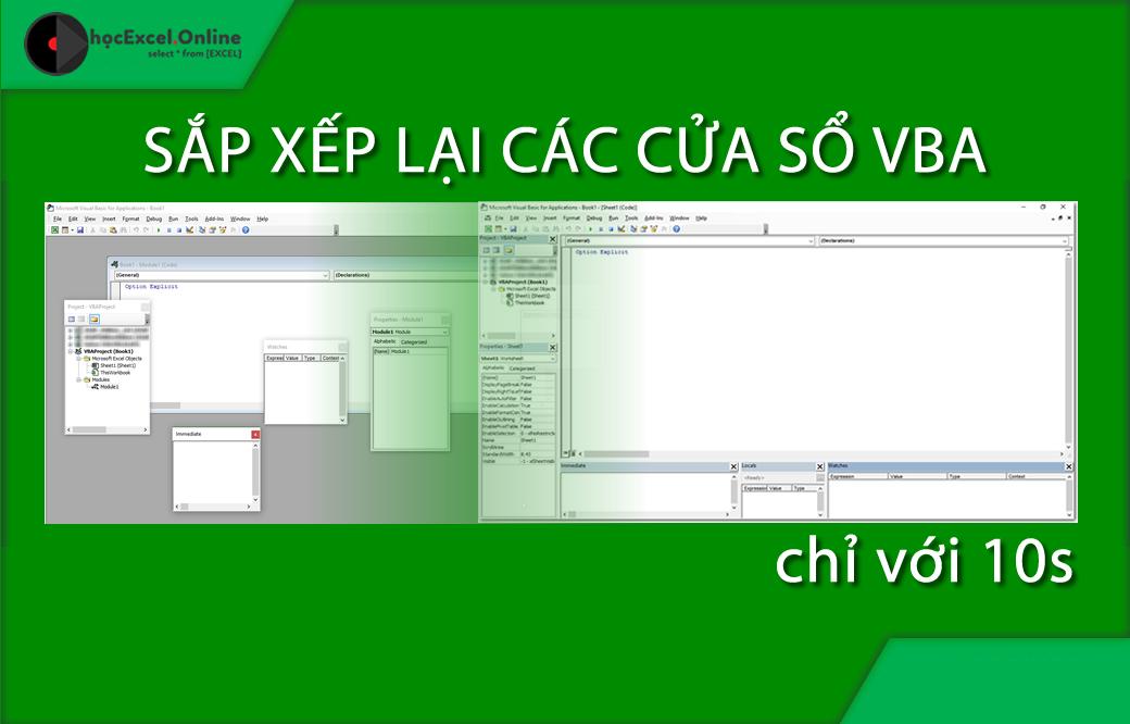 Excel vba docking