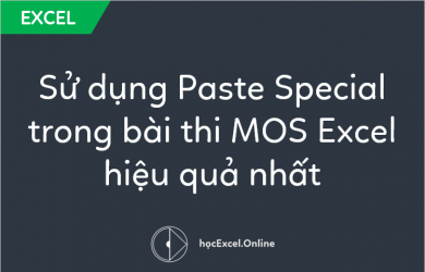 sử dụng paste special