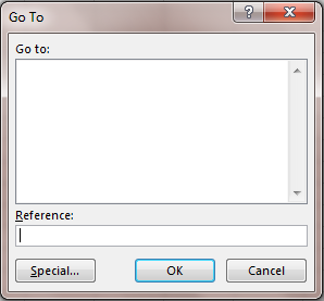 go to dialog box
