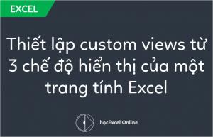 Thiết lập custom views