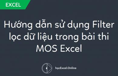 Hướng dẫn sử dụng Filter lọc dữ liệu trong bài thi MOS Excel