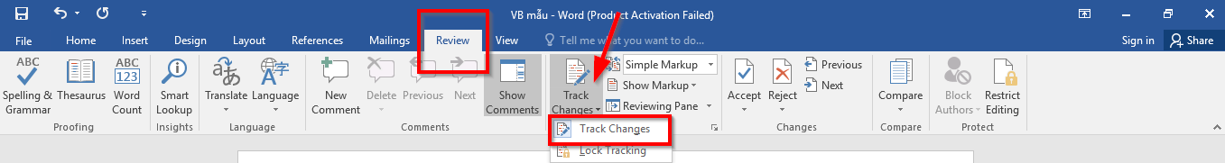 1. Ứng dụng của Track Changes trong sửa đổi văn bản trên Word