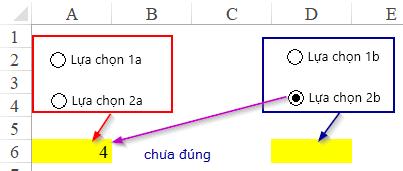 Hướng dẫn cách chia nhóm nút chọn Option button khác nhau trên cùng