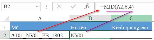 hàm vlookup kết hợp hàm mid