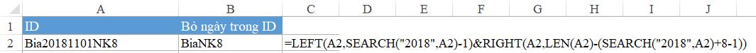 hàm dò tìm kí tự trong Excel