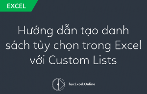 Hướng dẫn tạo danh sách tùy chọn trong Excel với Custom Lists
