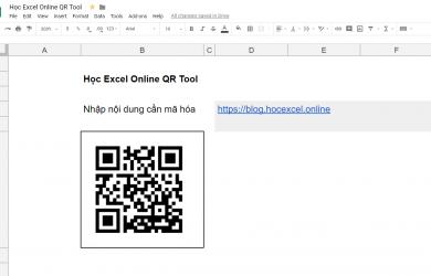 Công cụ tạo QR Code của Học Excel Online với Google Sheet