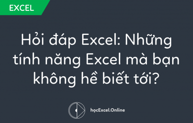 tính năng Excel