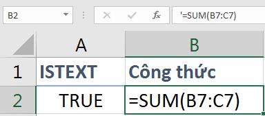 Định dạng TEXT bằng dấu nháy đơn ở đầu
