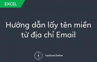 lấy tên miền từ địa chỉ Email