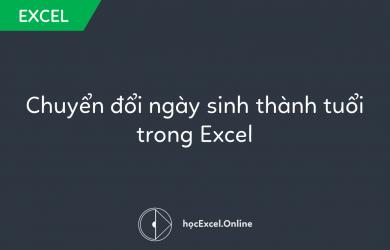Hướng dẫn chuyển đổi ngày sinh thành tuổi trong Excel