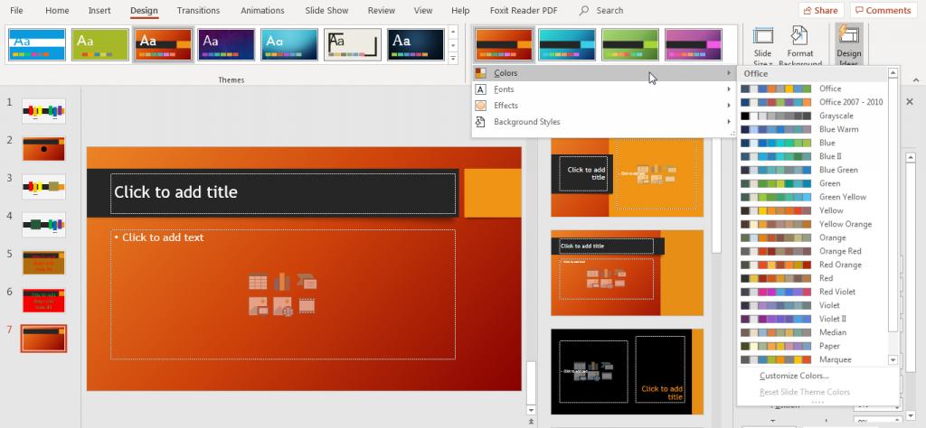 Hướng dẫn cách kết hợp màu sắc trong powerpoint chuyên