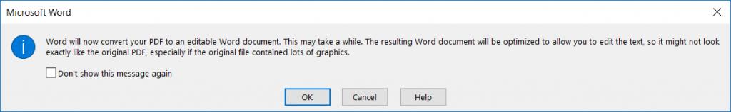 2- Cách chỉnh sửa file PDF bằng Microsoft Word
