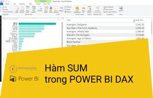 Hàm sum trong power BI Dax